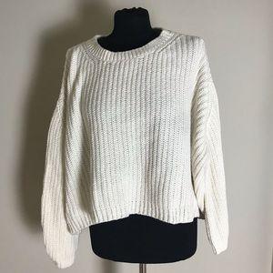 MOTH cream Crop Sweater
